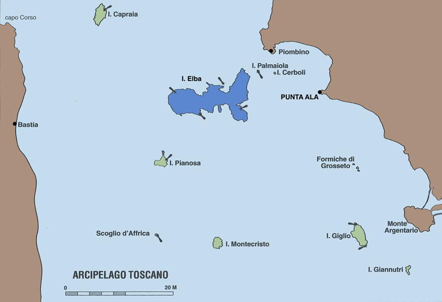 Isola Delba Cartina Italia.Veleggiare Charter Vacanza In Barca A Vela Sull Isola D Elba